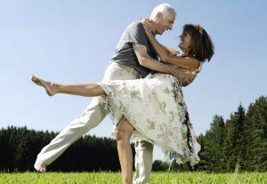 Baby boomers having fun in retirement